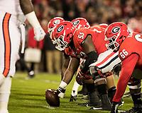 Athens, Georgia - November 10, 2018: Sanford Stadium, the number 5 ranked University of Georgia Bulldogs play the number 24 ranked Auburn University Tigers.