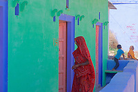 Village life and amazing colorful Buildings in the small town of Abhaneri