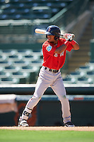 Boston Red Sox Kervin Suarez (16) during an Instructional League game against the Baltimore Orioles on September 22, 2016 at the Ed Smith Stadium in Sarasota, Florida.  (Mike Janes/Four Seam Images)