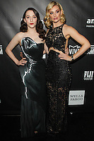 HOLLYWOOD, LOS ANGELES, CA, USA - OCTOBER 29: Kat Dennings, Beth Behrs arrive at the 2014 amfAR LA Inspiration Gala at Milk Studios on October 29, 2014 in Hollywood, Los Angeles, California, United States. (Photo by Celebrity Monitor)