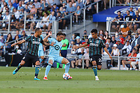 ST PAUL, MN - AUGUST 14: Hassani Dotson #31 of Minnesota United FC during a game between Los Angeles Galaxy and Minnesota United FC at Allianz Field on August 14, 2021 in St Paul, Minnesota.
