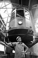- ATM (Azienda Trasporti Milanesi), officina manutenzione tram di via Leoncavallo (1982)....- ATM (Milan Transports Company),  tram maintenance workshop of Leoncavallo street (1982)