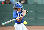 Basic Wolves' Isabelle Morales hits against the Douglas Tigers in the NIAA 4A softball tournament, in Reno, Nev., on Thursday, May 17, 2018. Douglas won 8-5. Cathleen Allison/Las Vegas Review-Journal