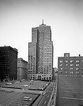 Pittsburgh PA:  Exterior view of the Grant building from the roof of a parking lot on 3rd Avenue. Opened for business in 1929, the building houses many legal firms due to its proximity to the Allegheny County Courthouse