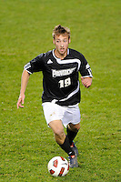 Daniel Fabian (19) of the Providence Friars. The Providence Friars defeated the Cincinnati Bearcats 2-1 during the semi-finals of the Big East Men's Soccer Championship at Red Bull Arena in Harrison, NJ, on November 12, 2010.