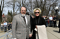 Guy Nadon<br /> attend Jeanine Sutto funerals, April 10, 2017.<br /> <br /> PHOTO  :  Agence Quebec Presse