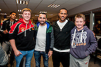 Tuesday  15 December 2015<br /> Pictured: Leon Britton and Wayne Routledge <br /> Re: Kids SCFC Christmas Party at the Liberty Stadium, Swansea