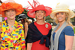 From left: Astrid Van Dyke, Sheridan Williams and Lauren Clark at the Hermann Park Conservancy Hat Party Tuesday March 9,2010. (Dave Rossman Photo)