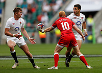 10th July 2021; Twickenham, London, England; International Rugby Union England versus Canada; Dan Kelly of England and Freddie Steward of England moving the ball between them in attack formation