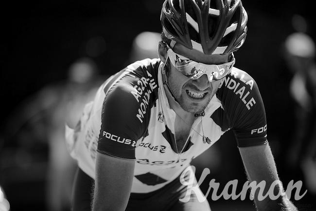 Ben Gastauer (LUX/Ag2r-La Mondiale) up the final climb to Chamrousse (1730m/18.2km/7.3%)<br /> <br /> 2014 Tour de France<br /> stage 13: Saint-Etiènne - Chamrousse (197km)