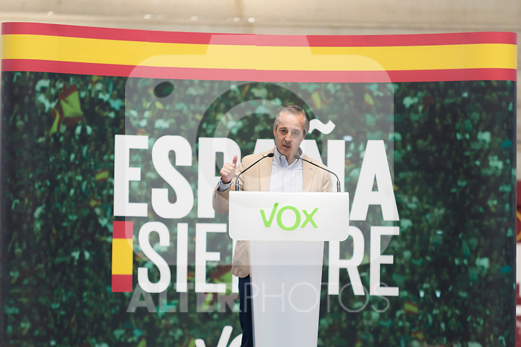 Vox`s politician Pablo Saez during a meeting with party supporters. October 13,2019. (ALTERPHOTOS/IVAN TOME)