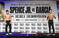 DALLAS, TX - DECEMBER 4: Eduardo Ramirez and Miguel Flores attend the weigh-in for the Errol Spence Jr. vs Danny Garcia December 5, 2020 Fox Sports PBC Pay-Per-View fight night at AT&T Stadium in Arlington, Texas. (Photo by Frank Micelotta/Fox Sports)