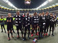 Eintracht wird von den Fans auf das Heimspiel gegen Union Berlin eingeschworen - 20.02.2020: Eintracht Frankfurt vs. RB Salzburg, UEFA Europa League, Hinspiel Round of 32, Commerzbank Arena DISCLAIMER: DFL regulations prohibit any use of photographs as image sequences and/or quasi-video.