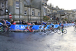 The 2nd chase group into Harrogate for the first time during the Men U23 Road Race of the UCI World Championships 2019 running 186.9km from Doncaster to Harrogate, England. 27th September 2019.<br /> Picture: Eoin Clarke | Cyclefile<br /> <br /> All photos usage must carry mandatory copyright credit (© Cyclefile | Eoin Clarke)
