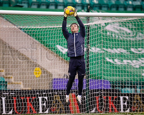15th November 2020; Easter Road, Edinburgh, Scotland; Scottish League Cup Football, Hibernian versus Dundee FC; Jack Hamilton of Dundee during the warm up before the match