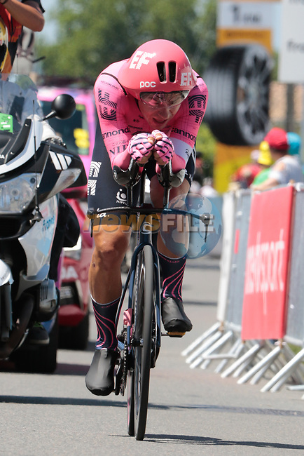 Stefan Bissegger (SUI) EF Education-Nippo during Stage 20 of the 2021 Tour de France, an individual time trial running 30.8km from Libourne to Saint-Emilion, France. 17th July 2021.  <br /> Picture: Colin Flockton   Cyclefile<br /> <br /> All photos usage must carry mandatory copyright credit (© Cyclefile   Colin Flockton)