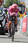Stefan Bissegger (SUI) EF Education-Nippo during Stage 20 of the 2021 Tour de France, an individual time trial running 30.8km from Libourne to Saint-Emilion, France. 17th July 2021.  <br /> Picture: Colin Flockton | Cyclefile<br /> <br /> All photos usage must carry mandatory copyright credit (© Cyclefile | Colin Flockton)