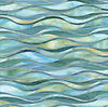Oasis, a jewel glass water jet mosaic shown in Aquamarine and Peacock Topaz.