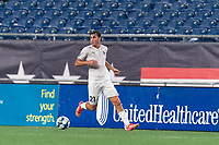 FOXBOROUGH, MA - SEPTEMBER 1: Manu Ferriol #21 of FC Tucson looks to pass during a game between FC Tucson and New England Revolution II at Gillette Stadium on September 1, 2021 in Foxborough, Massachusetts.