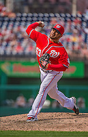 14 April 2013: Washington Nationals pitcher Henry Rodriguez on the mound against the Atlanta Braves at Nationals Park in Washington, DC. The Braves shut out the Nationals 9-0 to sweep their 3-game series. Mandatory Credit: Ed Wolfstein Photo *** RAW (NEF) Image File Available ***