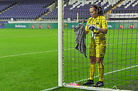 Linfield goalkeeper Nicole Adams (1) pictured during a female soccer game between RSC Anderlecht Dames and Northern Irish Linfield Ladies  in the first qualifying round for the Uefa Womens Champions League of the 2020 - 2021 season , Wednesday 4 th of November 2020  in ANDERLECHT , Belgium . PHOTO SPORTPIX.BE | SPP | STIJN AUDOOREN