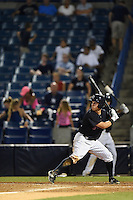 Tampa Yankees outfielder Mark Payton (22) at bat during a game against the Daytona Tortugas on April 24, 2015 at George M. Steinbrenner Field in Tampa, Florida.  Tampa defeated Daytona 12-7.  (Mike Janes/Four Seam Images)