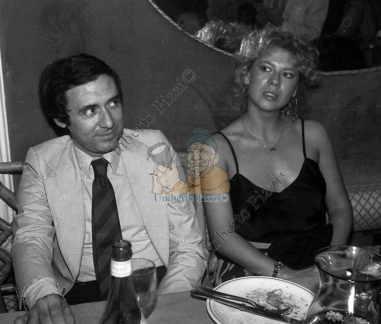 PAOLO MOSCA E DANIELA POGGI<br /> FESTA PER I 10 ANNI DI PLAYBOY<br /> PIPER  CLUB ROMA 1980