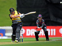 Rachel Priest bats during the women's Dream11 Super Smash cricket match between the Wellington Blaze and Northern Spirit at Basin Reserve in Wellington, New Zealand on Friday, 3 January 2020. Photo: Dave Lintott / lintottphoto.co.nz