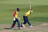 Scott Currie in bowling action for Hampshire during Hampshire Hawks vs Essex Eagles, Vitality Blast T20 Cricket at The Ageas Bowl on 16th July 2021