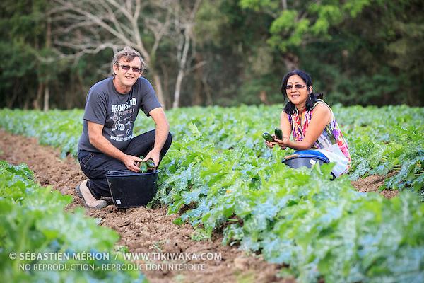Daniel Eysseric (et sa compagne), producteurs de melons et courgettes à La Foa