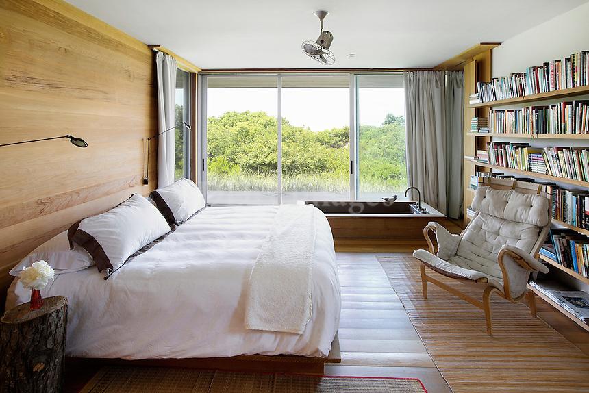 classic bedroom with garden view