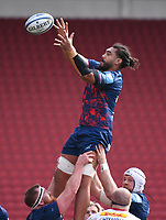 27th March 2021; Ashton Gate Stadium, Bristol, England; Premiership Rugby Union, Bristol Bears versus Harlequins; Chris Vui of Bristol Bears wins the lineout ball