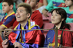 FC Barcelona's Asian supporters during La Liga match.September 22,2010. (ALTERPHOTOS/Acero)