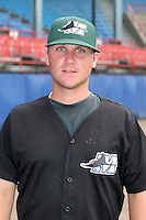 Southwest Michigan Devil Rays Hunter Vick poses for a photo before a Midwest League game at C.O. Brown Stadium on July 14, 2006 in Battle Creek, Michigan.  (Mike Janes/Four Seam Images)