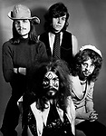 The Move 1970 Rick Price Bev Bevan Roy Wood and Jeff Lynne. Jeff Lynne joined February 1970 Tick Price left February 1871.<br /> © Chris Walter