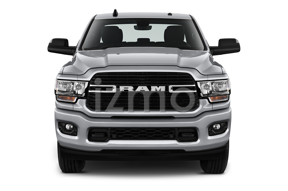 Car photography straight front view of a 2019 Ram 3500 Big Horn 4 Door Pick Up