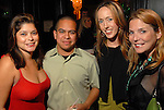 Marcy DeLuna, Daniel Ortiz, Rachel Rosson and Kristen Cannon at the St. Patrick's Day party at the Hotel ZaZa Monday March 17,2008.(Dave Rossman/For the Chronicle)