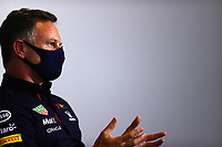 16th July 2021; Silverstone Circuit, Silverstone, Northamptonshire, England; Formula One British Grand Prix, and Qualifying; Christian Horner GBR, Red Bull Racing, F1 Grand Prix of Great Britain at Silverstone Circuit at Silverstone Circuit press conference