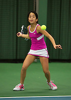 Rotterdam, The Netherlands, 07.03.2014. NOJK ,National Indoor Juniors Championships of 2014, 12and 16 years, Lian Tran (NED)<br /> Photo:Tennisimages/Henk Koster
