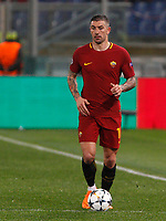Roma s Aleksandar Kolarov in action during the Uefa Champions League round of 16 second leg soccer match between Roma and Shakhtar Donetsk at Rome's Olympic stadium, March 13, 2018. Roma won. 1-0 to join the quarter finals.<br /> UPDATE IMAGES PRESS/Riccardo De Luca