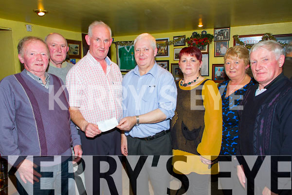 Pictured in the Ramble Inn Bar, Abbeyfeale on Thursday night for the West Limerick Singing Clubs annual Fund raising night. They raised €600 on the night, €400 from collections and raffle and West Limerick Singing Club donating a further €200 on the night. All proceeds wet to the Tony Noonan's Christmas lights Fund to which he is donating to multiple local charities.