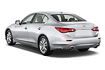 Rear three quarter view of a 2014 Infiniti Q50 Sedan