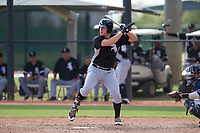 Chicago White Sox first baseman Gavin Sheets (25) at bat during an Instructional League game against the San Diego Padres on September 26, 2017 at Camelback Ranch in Glendale, Arizona. (Zachary Lucy/Four Seam Images)