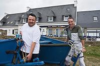Europe/France/Bretagne/29/Finistère/ Névez:l'hôtel restaurant Ar Men Du à Raguenez Plage- Pierre-Yves Roué et son chef Patrick Le Guen