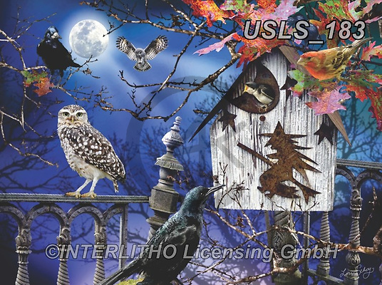 Lori, REALISTIC ANIMALS, REALISTISCHE TIERE, ANIMALES REALISTICOS, zeich, paintings+++++Fall Birdhouse_3_5_12in,USLS183,#a#, EVERYDAY ,puzzle,puzzles