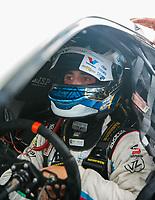 Oct 7, 2018; Ennis, TX, USA; NHRA pro stock driver Tanner Gray during the Fall Nationals at the Texas Motorplex. Mandatory Credit: Mark J. Rebilas-USA TODAY Sports