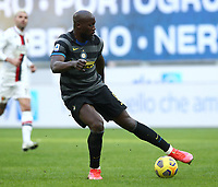 Calcio, Serie A: Inter Milano - Genoa , Giuseppe Meazza (San Siro) stadium, in Milan, February 28, 2021.  <br /> Inter's Romelu Lukaku in action during the Italian Serie A football match between Inter and Genoa at Giuseppe Meazza (San Siro) stadium, on February 28, 2021.  <br /> UPDATE IMAGES PRESS/Isabella Bonotto