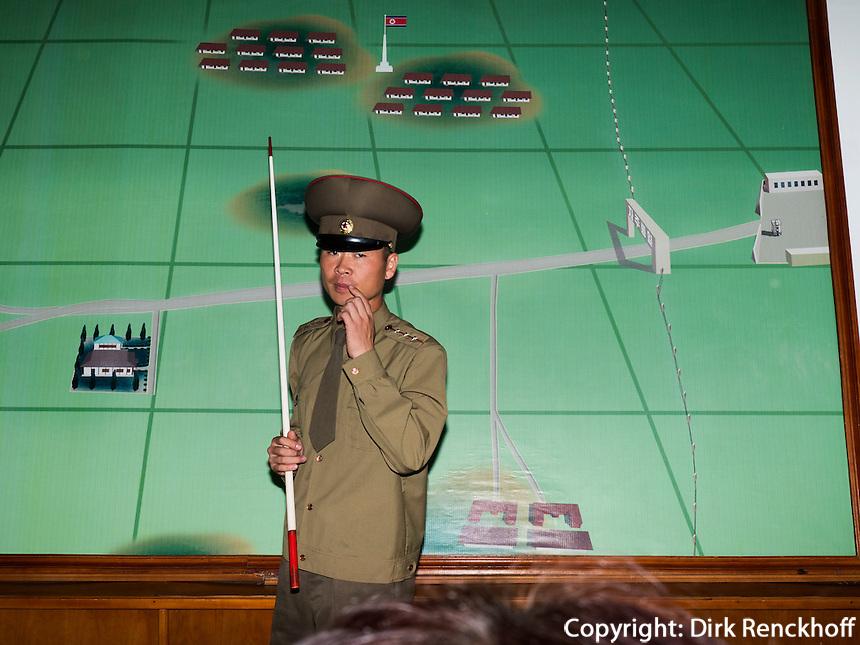 Im nordkoreanischen Teil von Panmunjeom, Nordkorea, Asien<br /> Boarder Panmunjeom, North Korea, Asia
