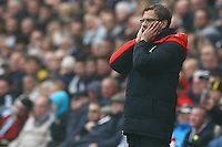 Liverpool manager Jurgen Klopp shows a look of dejection as Brad Smith is sent off during the Barclays Premier League match between Swansea City and Liverpool played at the Liberty Stadium, Swansea on 1st May 2016