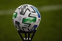 SAN JOSE, CA - SEPTEMBER 13: MLS ball during a game between Los Angeles Galaxy and San Jose Earthquakes at Earthquakes Stadium on September 13, 2020 in San Jose, California.